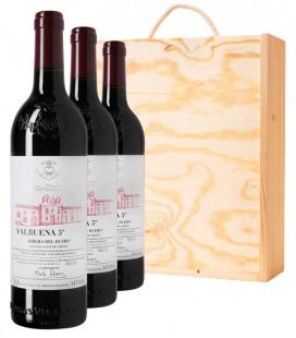 VALBUENA 5º año 2014 3 botellas + Estuche madera