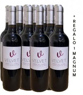 PACK VELVET 11 botellas  Roble + REGALO 1 botellla Magnum