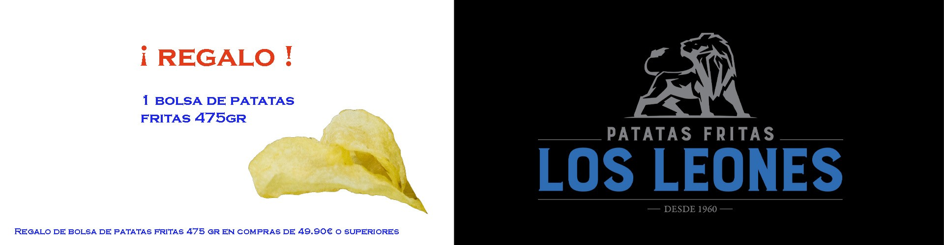 Regalo bolsa patatas fritas los leones